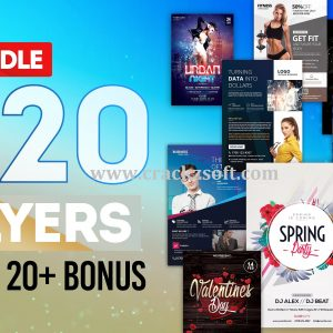 MEGA BUNDLE 100+ Flyers Templates for Photoshop