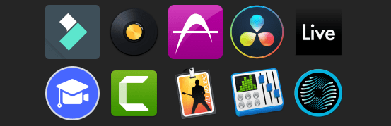 macos video and audio editors collection