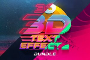 3D Text Effects Bundle Vol.4