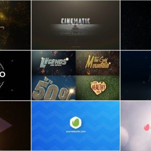 9 Projects from VideoHive for After Effects [Logo]