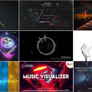 9 Projects from VideoHive for After Effects [Music Visualizer]